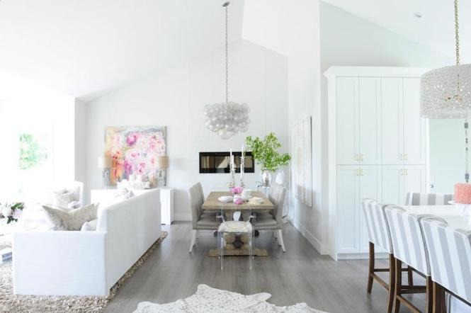 Dining Room Sloped Ceiling