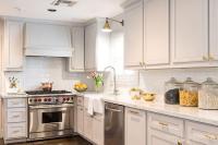 Grey Cabinets Brass Hardware Design Ideas