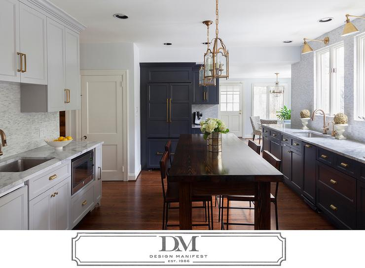 delta trinsic kitchen faucet slate backsplash dark gray cabinets with brass pulls - transitional ...