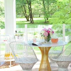 White Wicker Chairs And Table Wayfair Dining Brass Marble Contemporary Deck Patio