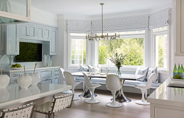 Blue Dining Nook  Transitional  Kitchen