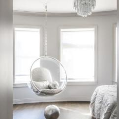 Swing Chair Grey Kl Bedroom With Acrylic Bubble Hanging - Contemporary