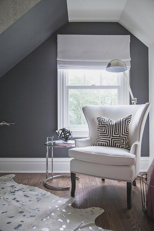 Reading Corner Under Sloped Ceiling  Transitional  Bedroom