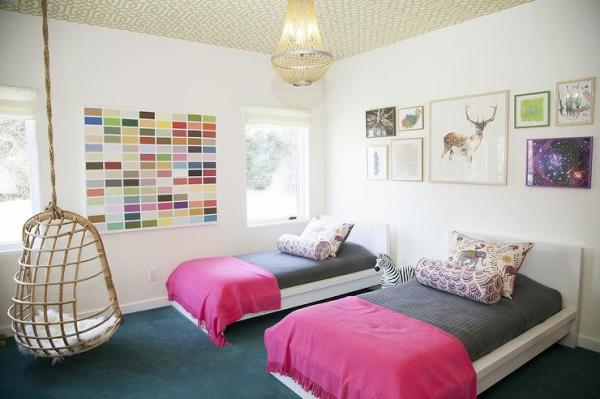 gray and pink twin girl bedroom ideas Pink and Gray Kids Bedding - Contemporary - Girl's Room