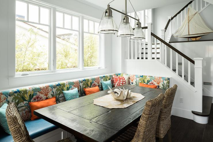 kitchen island chairs with backs hgtv remodels l shaped banquette - transitional dining room alice ...