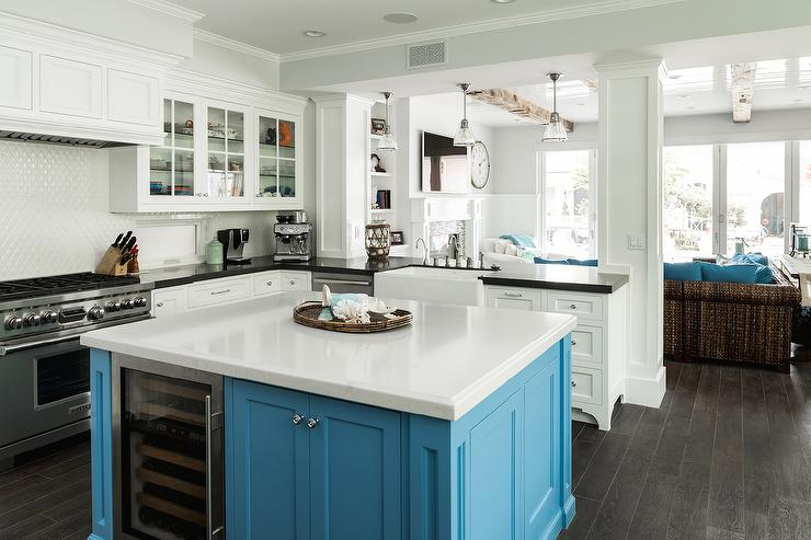 square kitchen island white table and chairs blue design ideas turquoise view full size