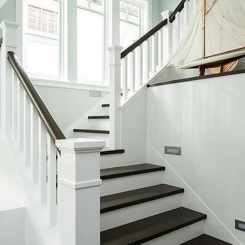 White Spindles With Dark Brown Banister Design Ideas   Grey And White Banister   Furniture   Light Wood Banister   Runner Designsponge   Green White   Indoor