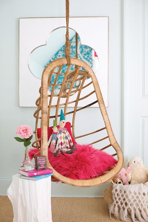 Teen Bedroom Hanging Chair Design Ideas