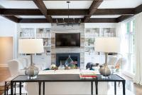 Painted Built Ins - Transitional - living room - Munger ...