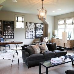 Back Of Sofa Facing Fireplace Usa Brands Family Room And Office Combo - Transitional Living