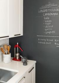 Kitchen with Chalkboard Accent Wall - Transitional - Kitchen