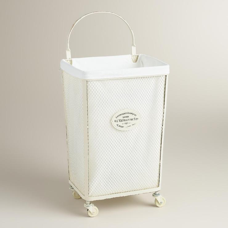 Canvas Hamper and ThreeSection Sorter in Laundry  Crate