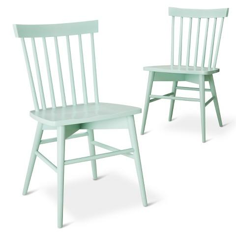 Octagon Dining Chair with Mint Lattice Fabric I