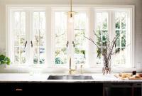 Kitchen Sink Under French Windows - Contemporary - Kitchen