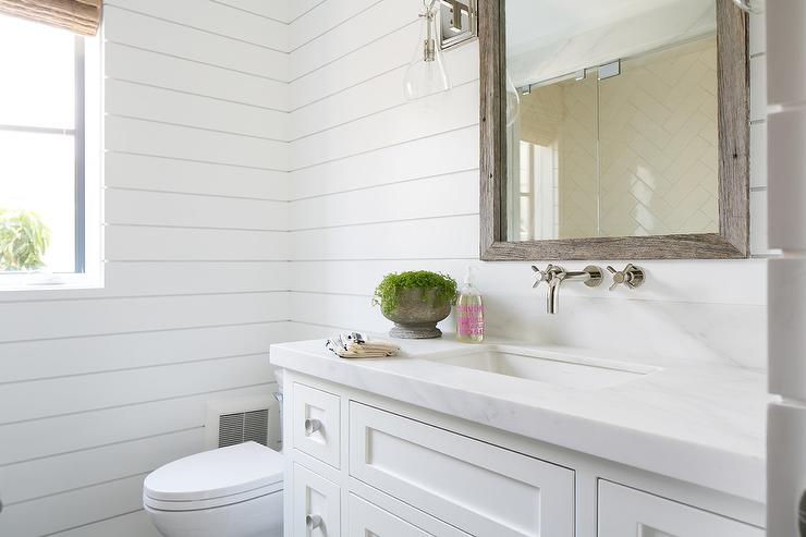 Guest Bathroom with Shiplap