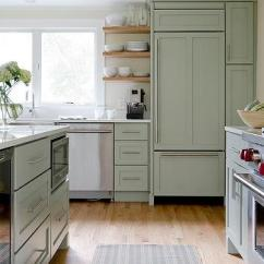 Green Kitchen Cabinets Remodeling Open Living Room Sage Design Ideas Kitchens