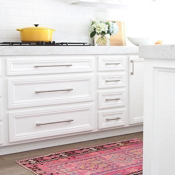 kitchen hardware 10x10 design ikea cabinet ideas pink kilim runner