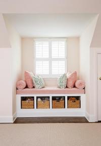 Kids Pink Window Seat Design Ideas