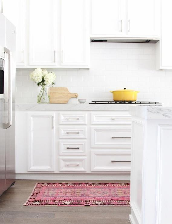 pink kitchen rug cabinet door replacement with kilim transitional