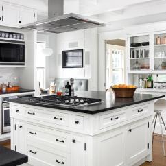 Kitchen Tables Art Van White Islands Center Island Vent Hood - Transitional