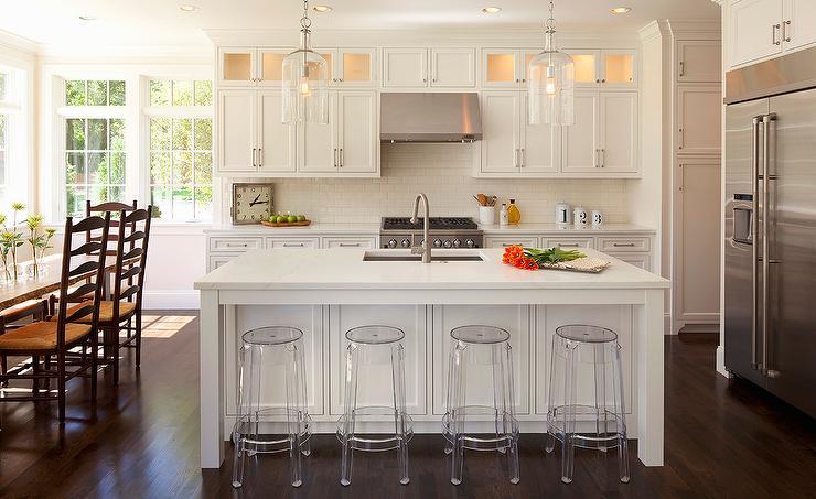 kitchen drum light hardware for white cabinets off center island design ideas