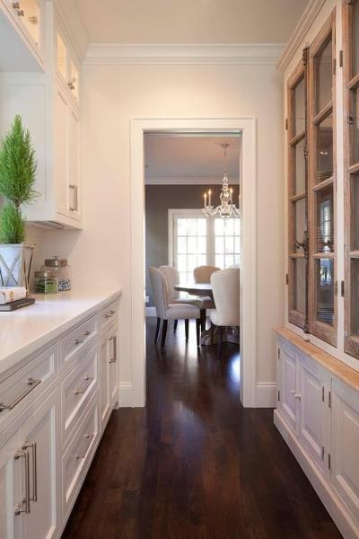 butlers pantry kitchen cabinets Built In China Cabinet Design Ideas