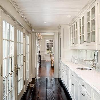 Long Butlers Pantry with French Casement Cabinets