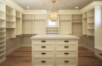 Cream Closet cabinets and Shelves - Transitional - Closet