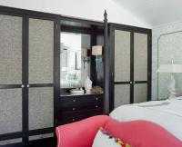 Fabric Paneled Closet Doors - Contemporary - Bedroom