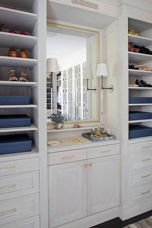 Gray Built In Cabinets Design Ideas