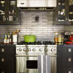 Chicken Kitchen Rugs Faucet Moen Black Cabinets With Stainless Steel Backsplash ...