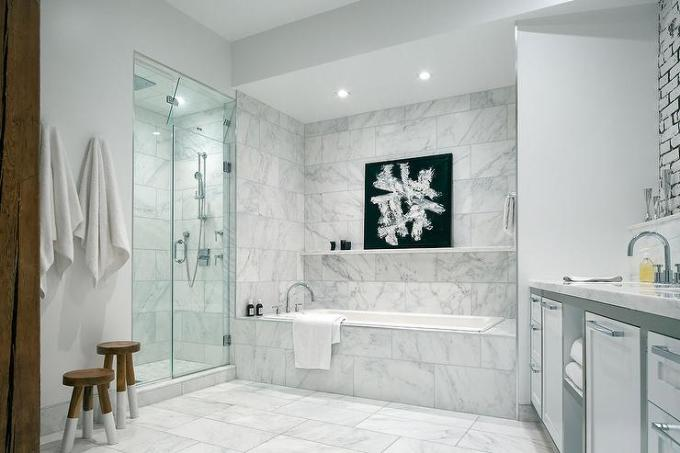 Staggered White Floor Tiles Wikizie