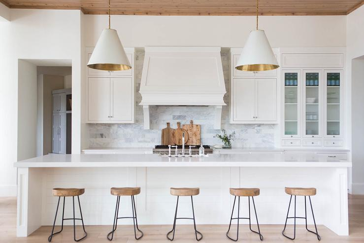 long kitchen islands tall round table extra island design ideas with five stools view full size