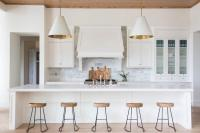 Long Kitchen Island with Five Stools - Transitional - Kitchen