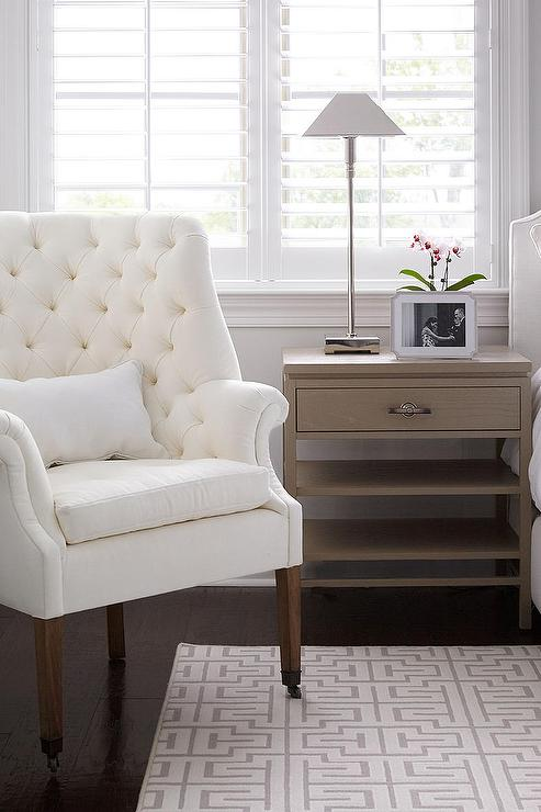 white bedroom chair balance ball and taupe ideas transitional