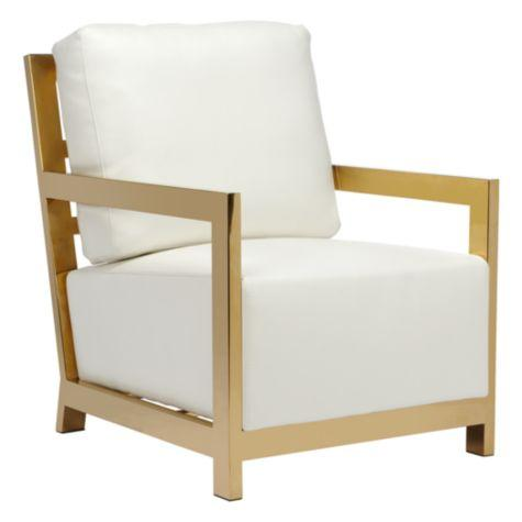 white and gold chair oversized chairs for living room west street