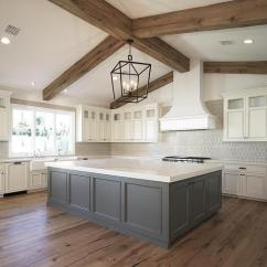 Grey Kitchen Island Amazon Appliances Ivory Cabinets With Transitional