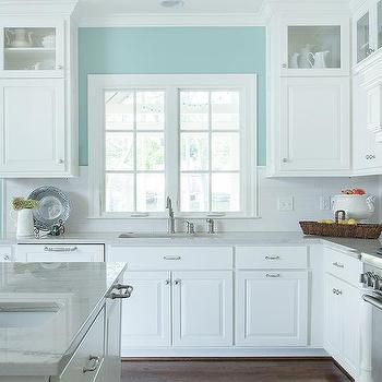 kitchen walls champagne bronze faucet half painted design ideas turquoise