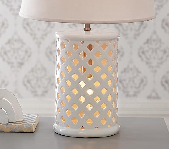 White and Gold Lattice Accents Desk