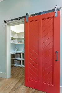 Red Barn Pantry Door - Transitional - Kitchen