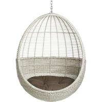 White Pod Hanging Chair With Cushion