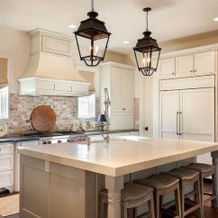Brick Backsplash In Kitchen White Cabinets For Sale With Red Cottage