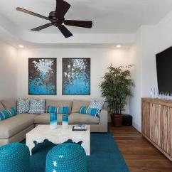 Gray And Turquoise Living Room Rattan Chairs Dark Grey Velvet Sectional With Blue Pillows Transitional Rooms