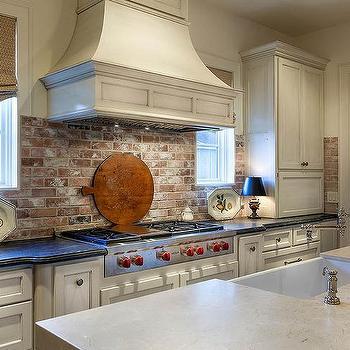 brick kitchen backsplash outdoor cabinets polymer red design ideas