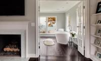 Master Bathroom French Doors Design Ideas
