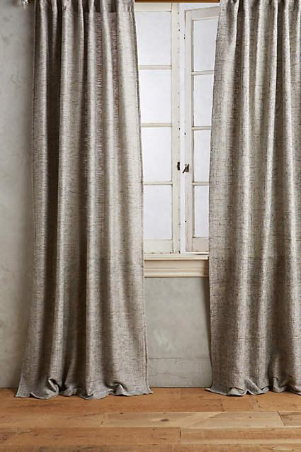 Slub Grey Silk Curtain