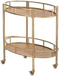Gold Oval Bar Cart Look for Less