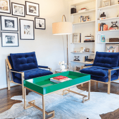 Blue Velvet Living Room Chairs Color Schemes With Brown Couches Milo Baughmann Contemporary