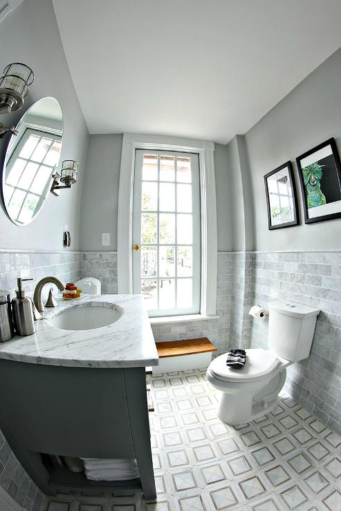 White And Grey Bathroom Design Ideas