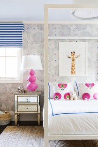 Kids Room with White Canopy Bed - Contemporary - Girl's Room